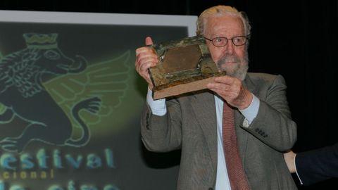 Berlanga, durante el homenaje a su carrera en el Festival de Cine de Ourense del 2005