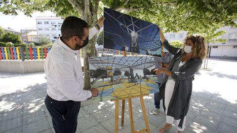 Marián Ferreiro e Ibán Santalla presentaron ayer la obra