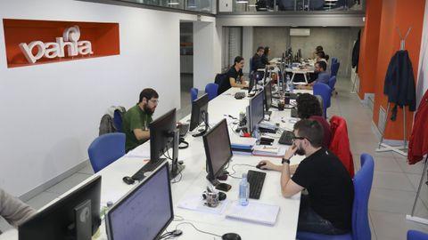 Personal de Bahia Software en fotografía de archivo. Ahora mismo la plantilla teletrabaja a causa de la pandemia