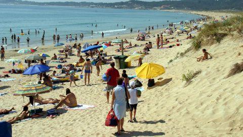Playa de A Lanzada, en una imagen del verano del 2004