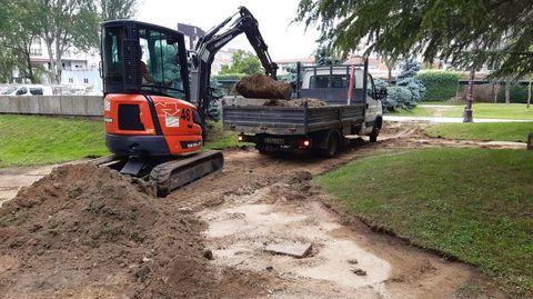 Las obras comenzaron esta mañana y está previsto que duren una semana