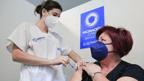 Un 55 % de la población de Lugo ha recibido al menos una dosis de la vacuna contra el coronavirus