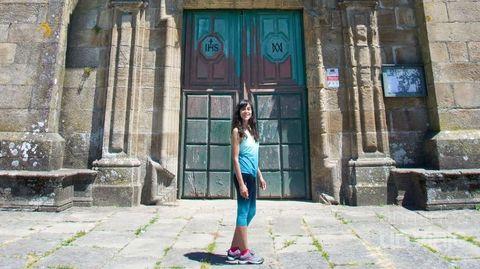 Eva Abal, en su itinerario por el Padrón jacobeao
