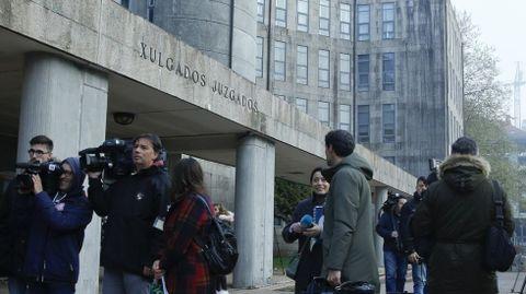 En una imagen de archivo, la sede de los juzgados de Santiago, en la que se encuentra la sección compostelana de la Audiencia Provincial