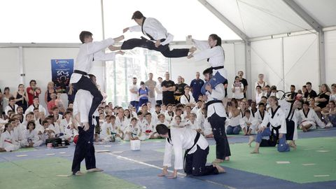 Imagen de archivo de una exhibición realizada en el campamento Sueño Olímpico