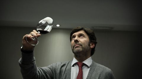 El enólogo coruñés Julio Mourelle, que ahora supervisa los vinos de Finca Míllara