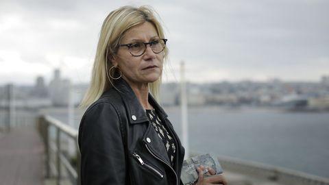 Daría Casas, paciente de covid en rehabilitación y logopedia en la unidad poscovid del Chuac, en A Coruña