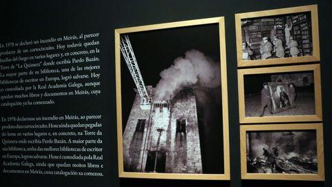 El incendio del pazo de Meirás en febrero de 1978 también está presente con las imágenes tomadas por el fotógrafo de La Voz de Galicia Xosé Castro.