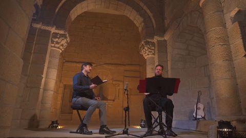 Alvarado e Abramovich, durante a actuación na catedral de Tui