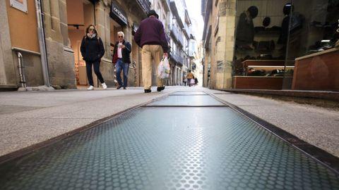 Ventana arqueológica en Doutor Castro en Lugo que guarda los mosaicos romanos