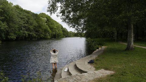 Santa Isabel, en Outeiro, una de las mejores áreas fluviales de la provincia de Lugo