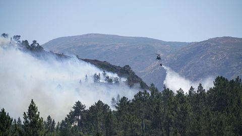 Imagen de archivo de un incendio en la Serra do Xurés
