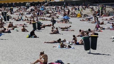 Playa de Riazor, en A Coruña