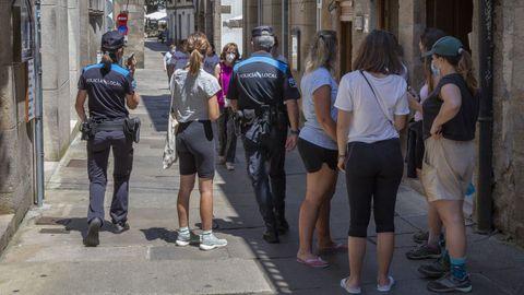 Rúa do Franco, en Santiago