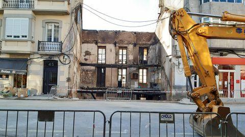 O incendio causou graves danos no edificio
