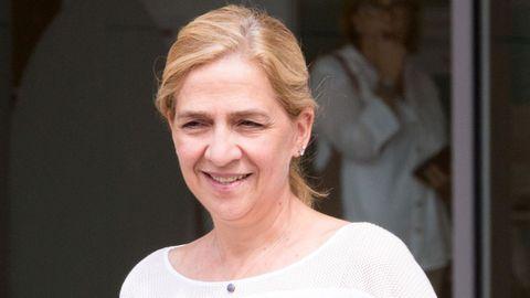 La Infanta Cristina, en una de sus últimas visitas a la capital española