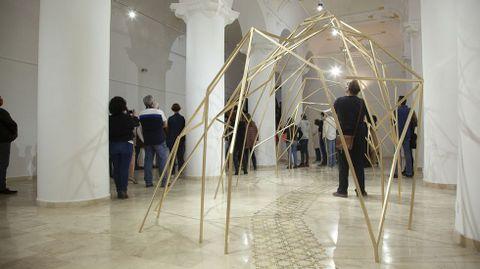Una de las obras de Villamide en el Museo de Arte Contemporáneo MAC Florencio de la Fuente, en Huete