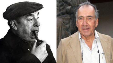 Os poetas Pablo Neruda e Joan Margarit.