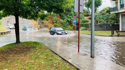 Temporal en Ourense.Inundación en Avilés de Taramancos