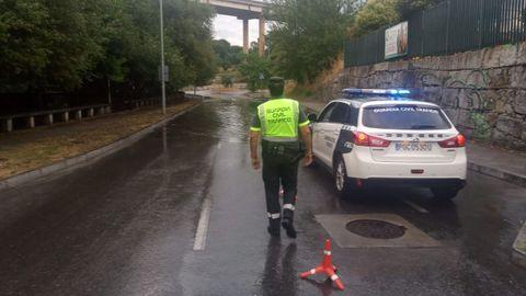 Patrulla de la Guardia Civil en Ourense