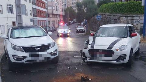Uno de los accidentes del fin de semana tuvo lugar en la rúa San Xillao