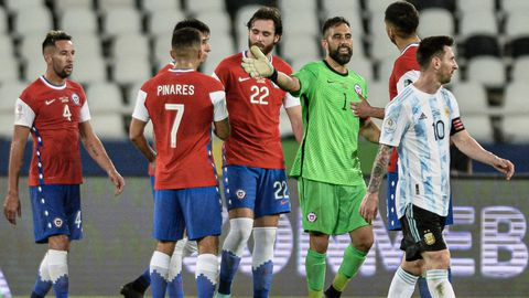 El Argentina-Chile de este lunes fue uno de los encuentros emitidos