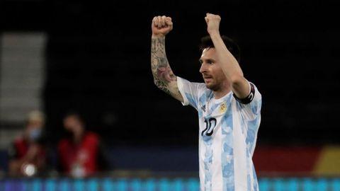 El gol de Messi no le bastó a Argentina para pasar del empate