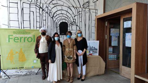 Montero, Castro y Saavedra, en la presentación de la iniciativa en la Oficina de Turismo de Ferrol Vello