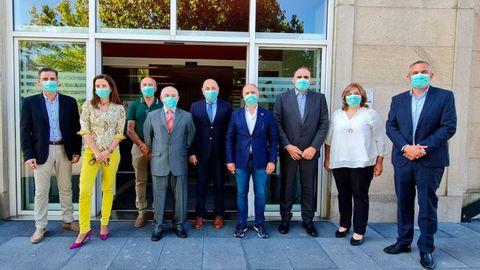 Comitiva de empresarios de San Cibrao, con representantes del Consorcio de la Zona Franca de Vigo
