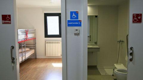Los albergues públicos cuentan con habitaciones acondicionadas para personas con problemas de movilidad
