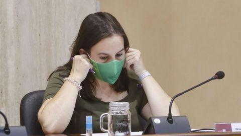 La portavoz de la marca de Podemos en Vilagarcía, María de la O Fernández