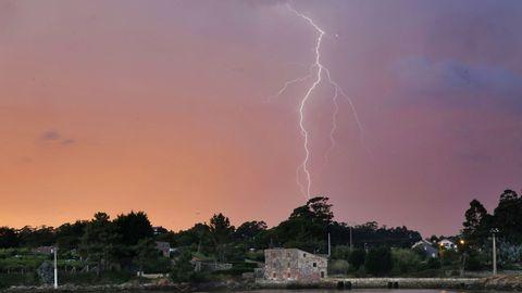 Una de las tormentas registradas en Galicia en los últimos días