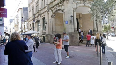 El edificio de Correos, en una imagen de archivo, fue uno de los afectados por el apagón eléctrico en Pontevedra