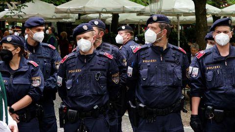La policía de Austria