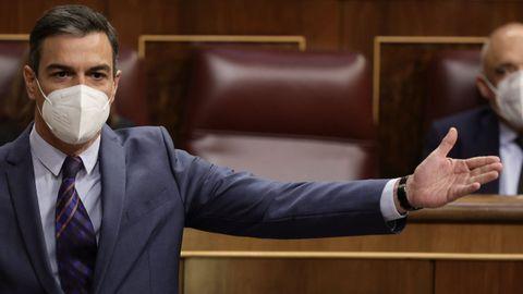El presidente del Gobierno, Pedro Sánchez en un pleno del Congreso de los Diputados