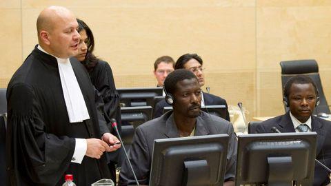 Karim Khan, en el juicio en el CPI contra dos acusados de crímenes en Darfur en el 2010