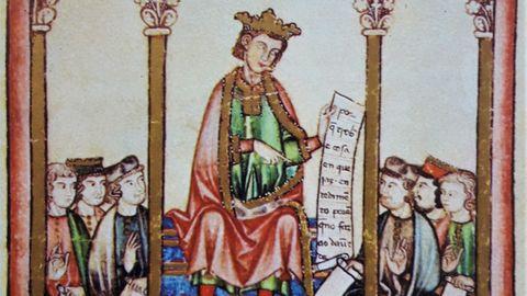 Detalle dunha ilustración do Códice Rico.