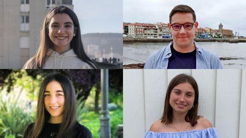 Estela Cao Gago, Eduardo Alonso Lavandero, Lía Romero Valle y Celia Villoria González
