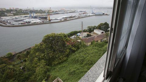 Vista de la zona del emboquille del pasadizo desde una de las viviendas afectadas