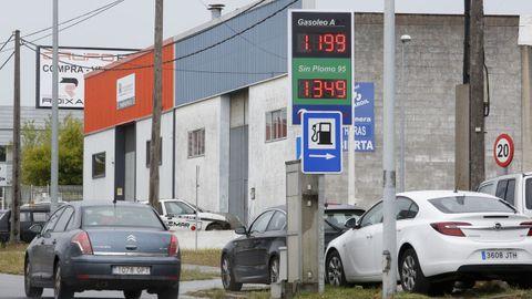Una de las gasolineras más baratas de la ciudad de Lugo, Masmaroil en O Ceao