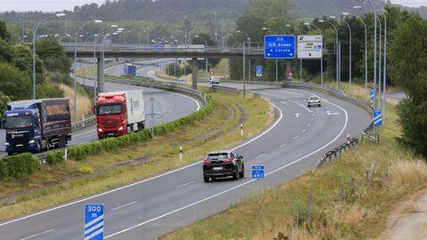 Autovía A-6 a la altura de Lugo
