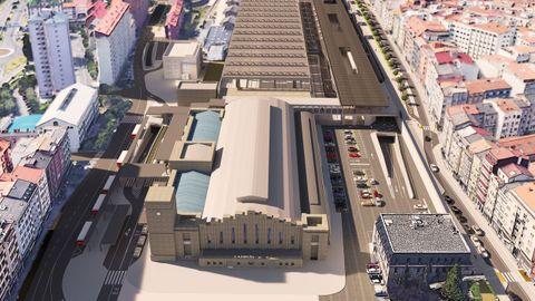 Futura remodelación de la estación de San Cristóbal, en A Coruña