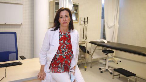 Eva Rodríguez, jefa de servicio en el centro de salud de Cambados