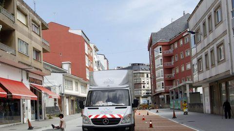 Tramo de la Avenida Álvaro Cunqueiro de Foz en una imagen de archivo