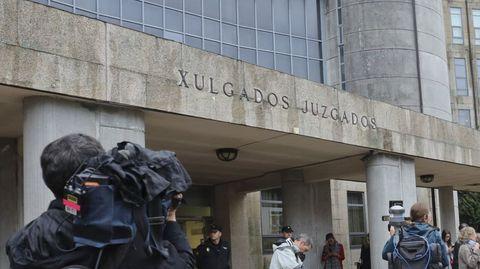 La sede de los juzgados de Santiago, en una imagen de archivo, en la que se encuentra la sección compostelana de la Audiencia Provincial