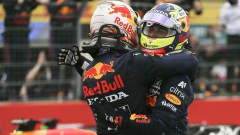 Verstappen y Sergio Pérez