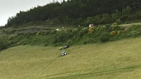 El vehículo se salió de la vía y dio varias vueltas de campana
