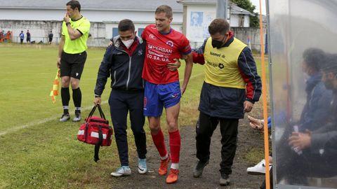 Hugo García caía lesionado en la segunda parte