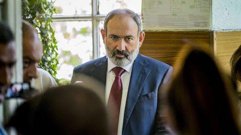 El primer ministro armenio,  Nikol Pashinián.