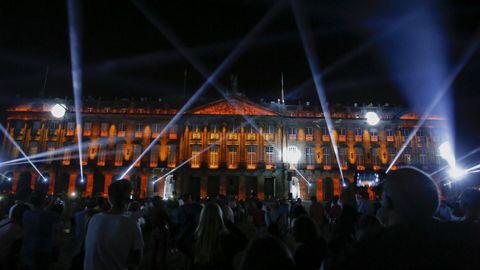 Los del 2019 fueron los últimos Fogos que se celebraron en la plaza del Obradoiro después de cuatro siglos